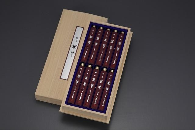 【奥野晴明堂】極品「薫翠」短寸筒函 10本入桐箱