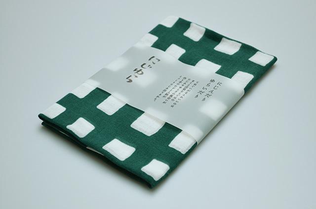 【にじゆら】ガーゼ 手ぬぐい shi-ca-ku 緑