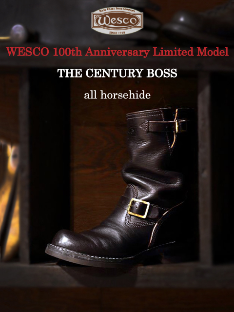 "[ウエスコ 100周年記念] WESCO 100th Anniversary Limited Model """"CENTURY BOSS"""" All Horsehide"