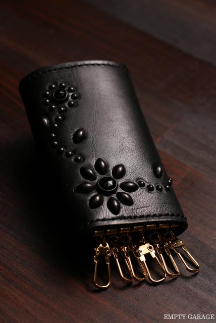 HTC Leather Key Case Flower Black/Black