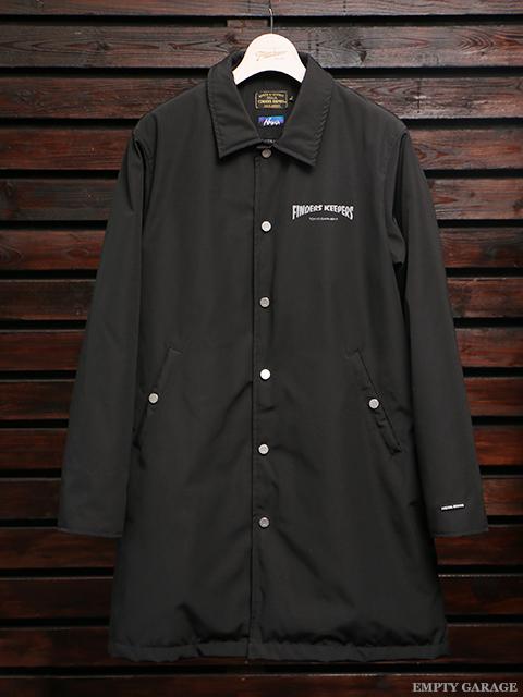 FindersKeepers x NANGA FK-Over Coat Black (White Duck Down)
