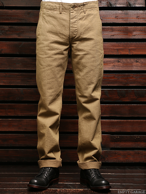 STEVENSON OVERALL CO. Quartermaster - 215 SLIM FIT TROUSER Khaki