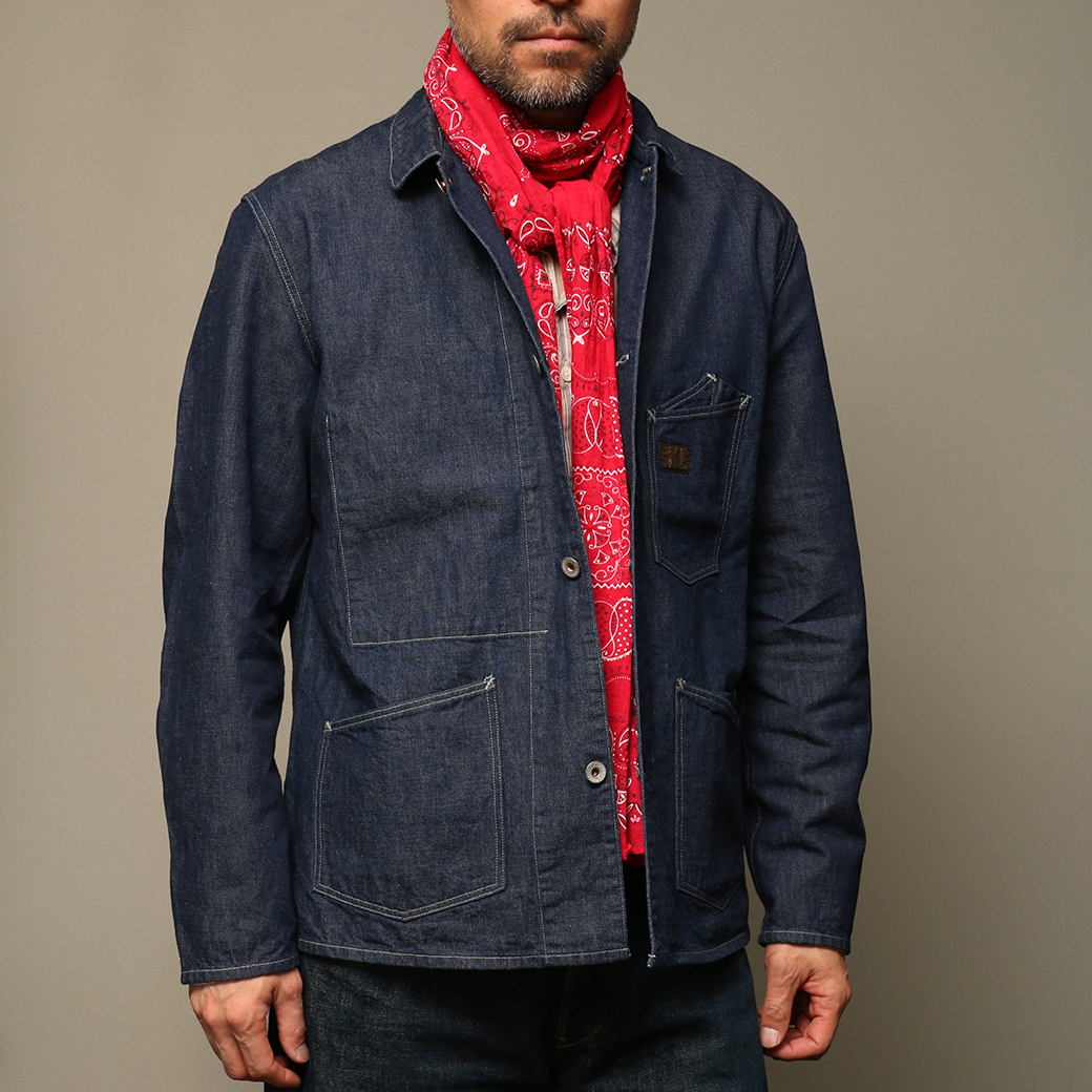 STEVENSON OVERALL CO. Golden Gate - GG1 RAILROAD JACKET 2018SS Bandana Stole - BS Faded Red