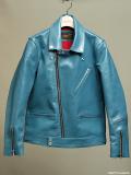 FindersKeepers FK-W.RIDERS JACKET U.K. II TURQUOISE BLUE HORSEHIDE