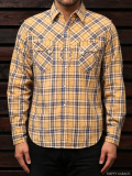 STEVENSON OVERALL CO. Cody - CD1 WESTERN SHIRT yellow plaid