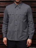 STEVENSON OVERALL CO. Smith - SM1 DOUBLE LAYERED WORK SHIRT Navy