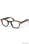 "MOSCOT モスコット 100周年記念モデル LEMTOSH ""Matte Black Wood"" Clear Lenses"