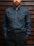 STEVENSON OVERALL CO. Cody - CD1 WESTERN SHIRT Washed Indigo