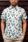 "KESTIN HARE ""DOVE"" SS UK MAKE BIRD PRINT SHIRT"