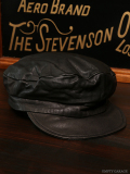 STEVENSON OVERALL CO. Leather Captains Hat - CA