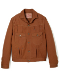 STEVENSON OVERALL CO.  Slinger - 401 RIVET PLEATED WORK JACKET brown rigid