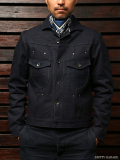 STEVENSON OVERALL CO. Slinger - 401 RIVET PLEATED WORK JACKET solid indigo Rigid