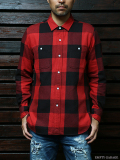 FindersKeepers FK-BIG CHECK FLANNEL SHIRT Red