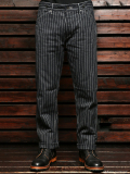 Stevenson Overall Co. Gambler 702 BUCKLE-BACK TROUSER Black Stripe