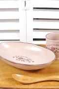 マニー セゾンドローズ 陶器 オーバルプレート