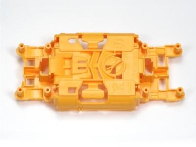 T94672 タミヤ ミニ四駆PRO 軽量センターシャーシ(オレンジ)