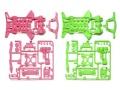 T94827 タミヤ スーパーXX 蛍光カラーシャーシセット(ピンク/グリーン) 【ミニ四駆限定】