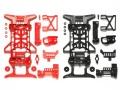 T94837 タミヤ スーパーX強化シャーシセット (レッド/ブラック) 【ミニ四駆限定】