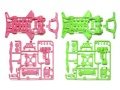 T95240 タミヤ スーパーXX 蛍光カラーシャーシセット(ピンク/グリーン)