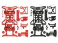 T95242 タミヤ スーパーX 強化シャーシセット (レッド・ブラック)