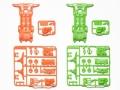 T95248 タミヤ スーパーII蛍光カラーシャーシセット(オレンジ・グリーン)