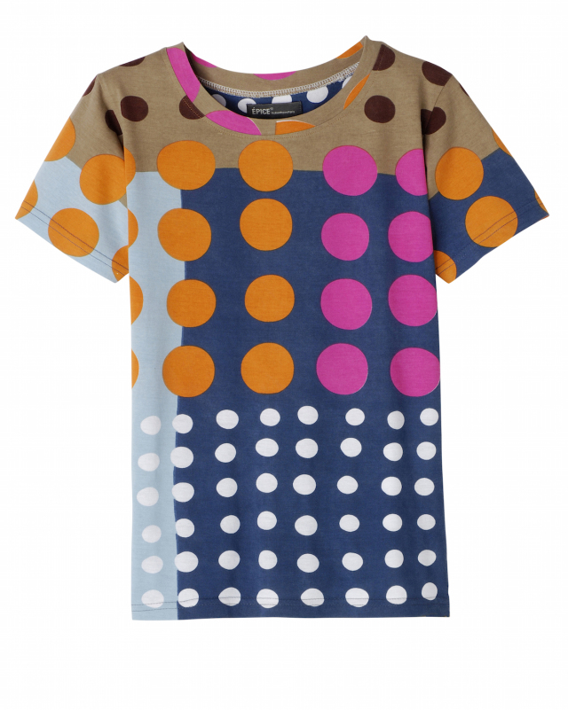レディス TーShirt DOTS TS1844A-02