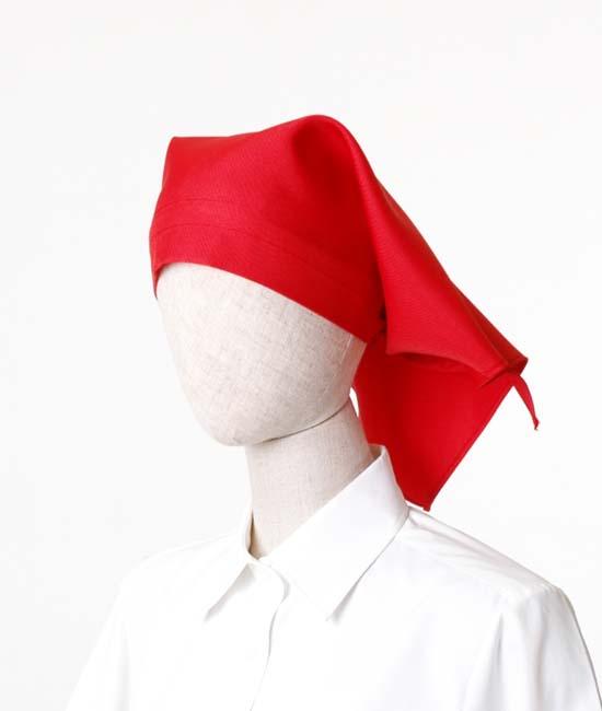 三角巾(ポリエステルツイル)JY4672レッド