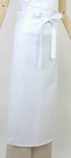 ロング丈エプロン2427ホワイト