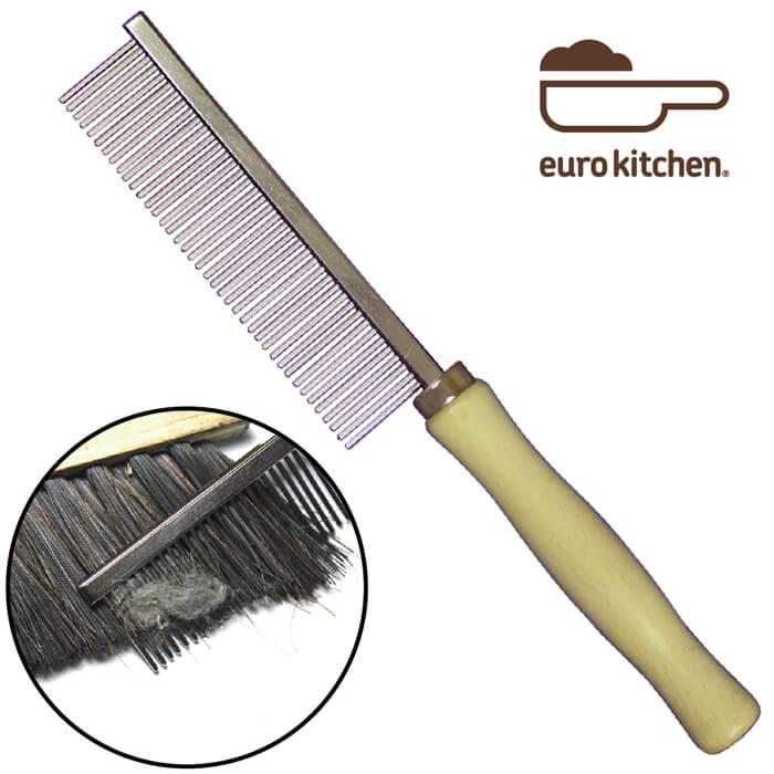 ユーロキッチン eurokitchen ブラシコムBrush Cleaning Comb【櫛タイプのブラシクリーナー・ヘアブラシ、獣毛ブラシ等のお掃除に】