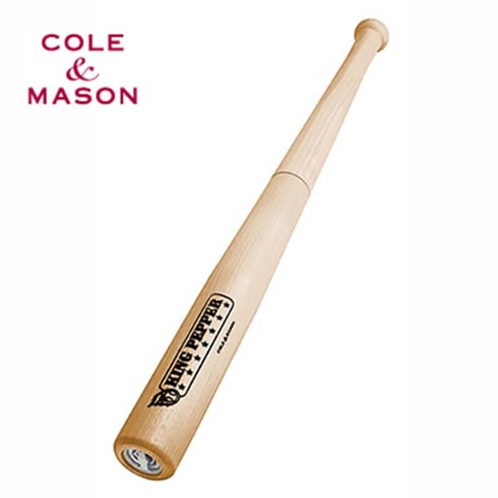 【完売】コールアンドメイソン COLE&MASON キングペッパー バット型コショウ挽き【送料無料】【訳あり特価品】