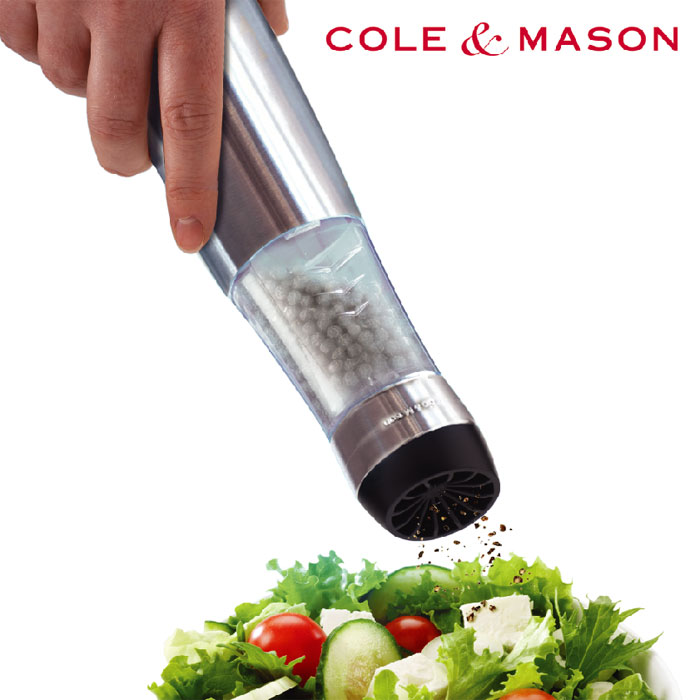 コールアンドメイソン COLE&MASON 自動電動ソルト&ペッパーミル BUZZバズレボリューション【光る電動ペッパーミル/片手/ソルトミル】