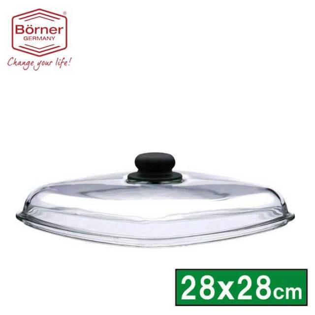 【完売】ベルナー BORNER 角型ガラス蓋28×28cm(Q28)【送料無料】