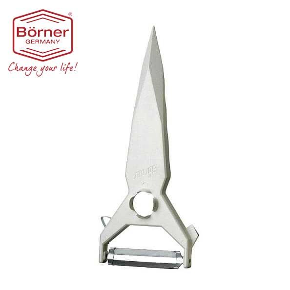 ベルナー BORNER 5種類機能ピーラーY型NO.9 白【野菜、果物、フルーツ、皮むき器、芽取り】【動画】