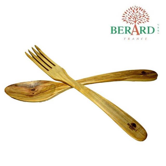 ベラール BERARD オリーブの木 サラダサーバーセット中 #02774