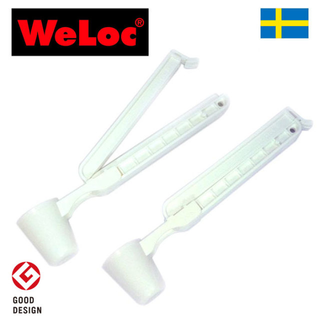 ウェーロック WeLoc クリップイットPA110スクープ着脱可能スプーン付き 白 2個セット CLIP-it (クロージャー、キッチンクリップ、袋止め)