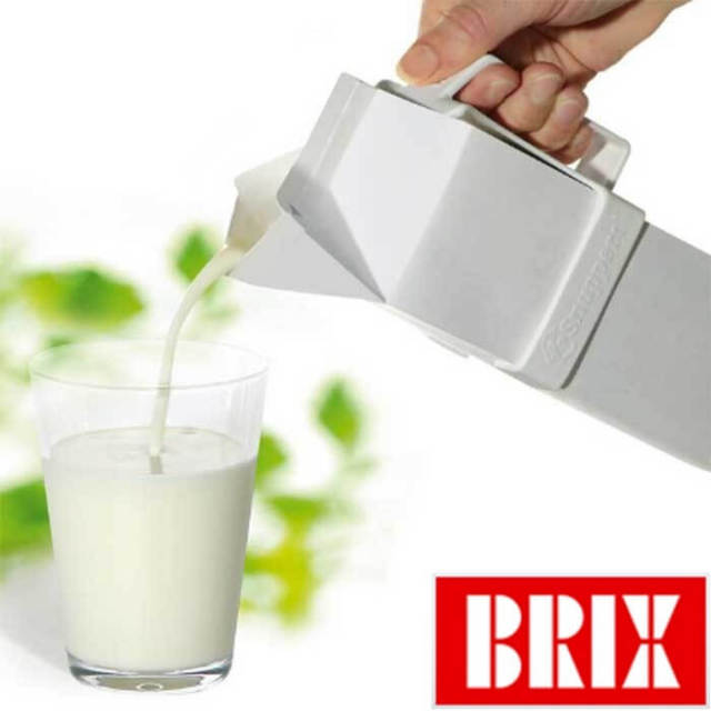 【完売】ブリックス BRIX デザイン design ミルクホルダー【紙パック、牛乳パック用の取っ手】【Z】