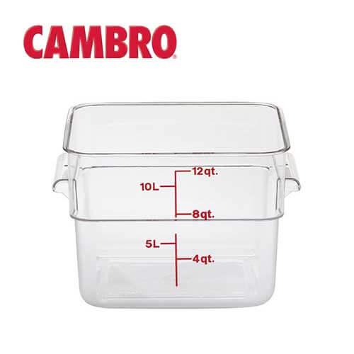 キャンブロ CAMBRO 角型フードコンテナークリアー 11.4L 12SFSCW【スーヴィードシェフの温水槽に最適】【送料無料】