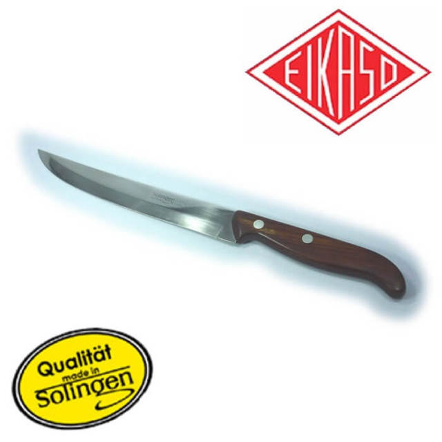 アイカソ EIKASO ステーキナイフ19cm 柄木製 027_11■ドイツ・ゾーリンゲン製■【Solingen】