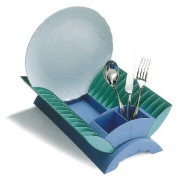【完売】【イタリア製】ジオスタイル GIOSTYLE 皿水切り 青【アウトレット・訳あり特価品】