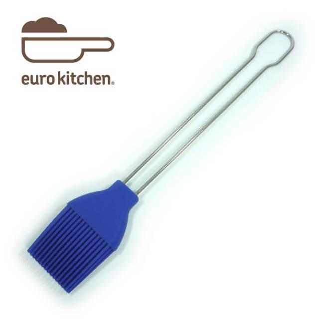 ユーロキッチン eurokitchen シリコンブラシ ジャンボ(29cm)青 ステンレス柄 シリコン刷毛