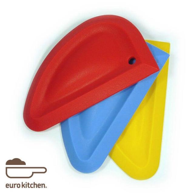 ユーロキッチン eurokitchen 一体型シリコンスパチュラ スクレーパータイプ シリコンへら【ハンドクリーナー】