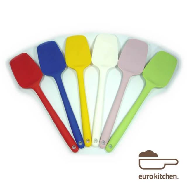 ユーロキッチン eurokitchen 一体型スプーンスパチュラ  シリコンへら【ハンドクリーナー】