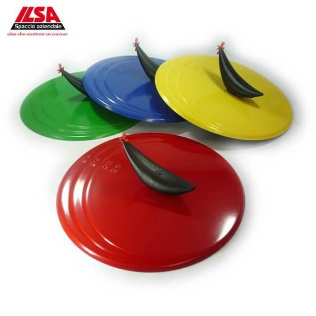 イルサ ILSA ホップラ Hop-La オムレツターナー小(20cmから26cm対応)★フライ返し機能付きフライパン用便利蓋・カバー★