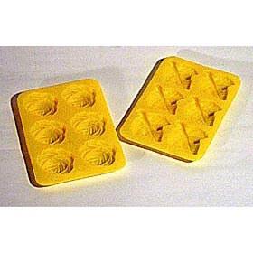 ルクエ LEKUE シリコンクッキーモールド2枚セット黄(薔薇+葉)【アウトレット・訳あり特価品】【ソープモールド/手作り石鹸/ソープ型/キャンドル型】