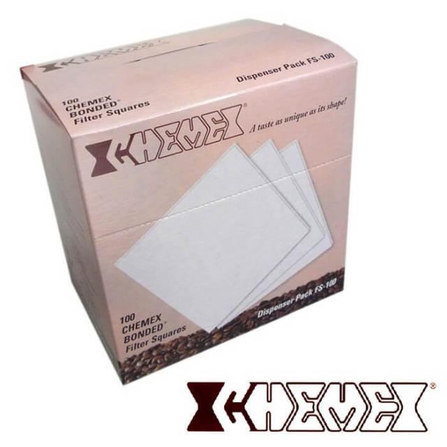【完売】ケメックス CHEMEX コーヒーメーカー(大・6カップ)用 角型フィルター#FS_100