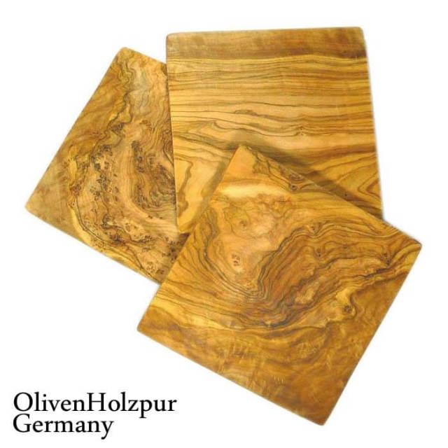 オリフェン・ホルツプア OlivenHolzpur オリーブの木まな板(20x20x1.5cm) スクエアカット #B3【送料無料】