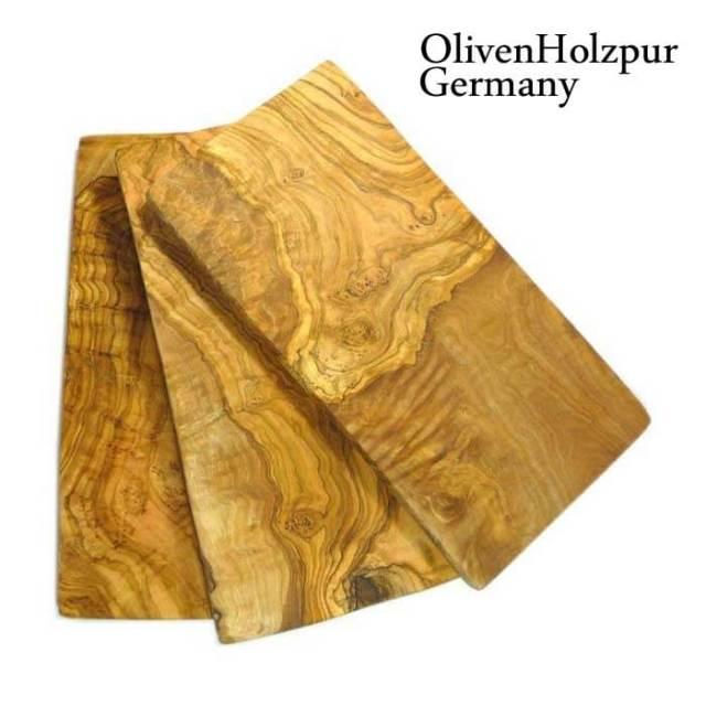 オリフェン・ホルツプア OlivenHolzpur オリーブの木まな板(30x15x1.5cm) 長方形カット #B7【送料無料】