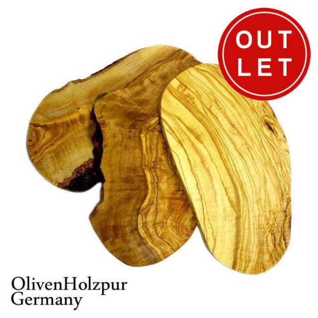 オリフェン・ホルツプア OlivenHolzpur オリーブの木まな板(30x17x2cm) 変形ナチュラル #BN30【アウトレット・訳あり特価品】