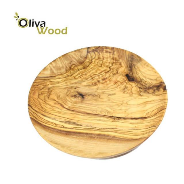 オリーバウッドOliva Wood(オリーブウッド)オリーブの木丸皿(ラウンドプレート)小20cm#PR120