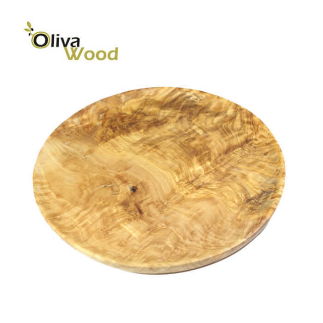 オリーバウッドOliva Wood(オリーブウッド)オリーブの木丸皿(ラウンドプレート)ピザ用26cm#PR126